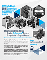 2016 COEH Symposium Flyer with Agenda